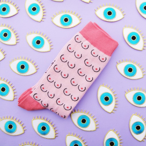 yeux-boob-socks